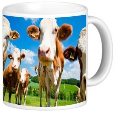 Rikki Knight LLC Knight Ceramic Coffee , Simmental Cows Ceramic Mug