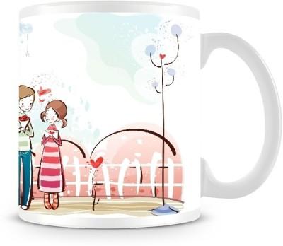 Shoprock Lovely Couples Graffiti Coffee Ceramic Mug