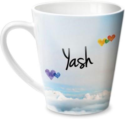 Hot Muggs Simply Love You Yash Conical  Ceramic Mug