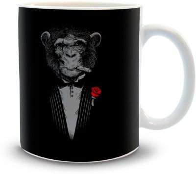 Shoppers Bucket Monkey Business Ceramic Mug