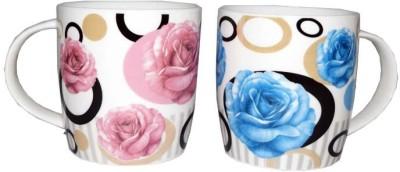 SNYTER Pink & Blue O-Rose Set Ceramic Mug