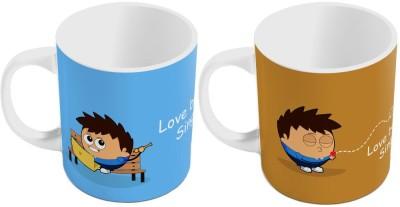 Indiangiftemporium Designer Romantic Print Coffee s Pair 432 Ceramic Mug