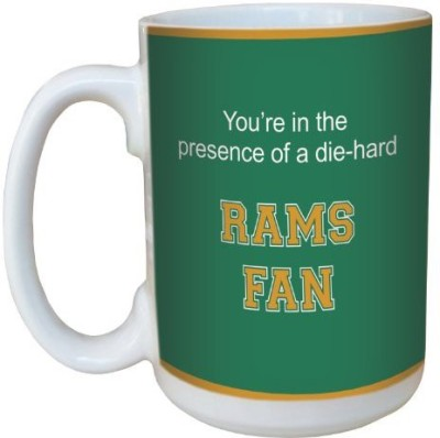 Tree-Free Greetings Greetings lm44676 Rams College Basketball Ceramic  with Full-Sized Handle, 15-Ounce Ceramic Mug