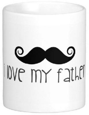 Easyhome I Love My father Ceramic Mug