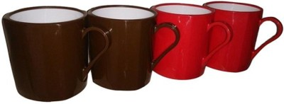 Nayasa Nayasa Tea And Coffee Cup (Set Of 4) Plastic Mug