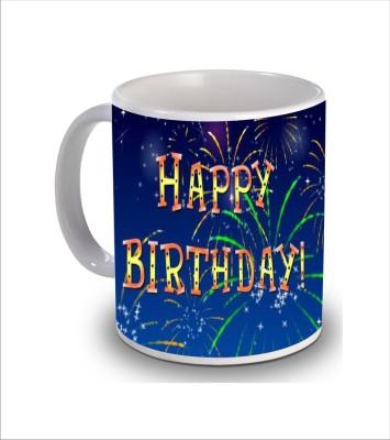 Print Hello Happy Birthday Cake b185 Ceramic Mug