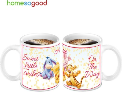 HomeSoGood Awesome For Stay Happy Quote (2 s) Ceramic Mug