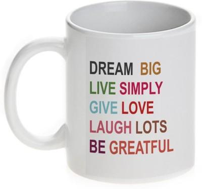 Mugwala Dream Big Live Simply Motivatonal Ceramic Mug