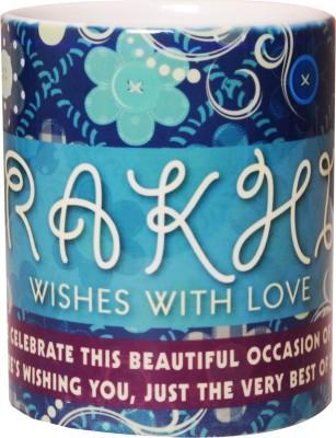Stylla India Rakhi  Wishes With Love Ceramic Mug