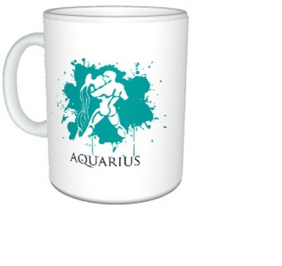 CreativesKart New Zodiac Aquarius (F)  Ceramic Mug
