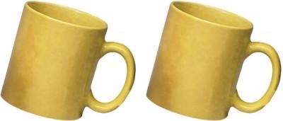 Snapgalaxy Yellow Combo of 2 pcs Ceramic Mug