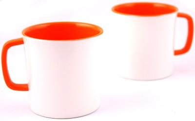 Hi Luxe Ivory Melamine 42248 Ivory - Orange Melamine Mug