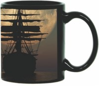 Printland Printland Ship Black Coffee 350 - ml Ceramic Mug(350 ml) best price on Flipkart @ Rs. 349