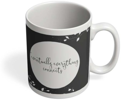 PosterGuy Eventually Everything Connects Eventually, Everything, Connects, Life, Motivational, Philosophy, Quote, Saying, Text, Typography, Minimal, Cute, Simple, Ceramic Mug