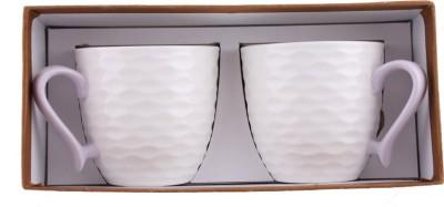 White Gold 922 Purple Porcelain Mug