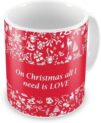 Kiran Udyog Kiran UdyogPrinted Quotes Design Red Coffee  591 Ceramic Mug