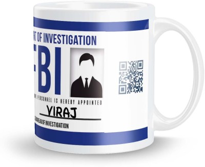 posterchacha Viraj FBI Id Tea And Coffee Ceramic Mug(300 ml)