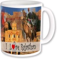 PhotogiftsIndia I Love Rajasthan With Camel And Mahal Ceramic Mug