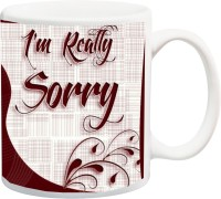 IZOR Valentines Gift ; Boyfriend/Girlfriend;Beautiful Stylish I Am Really Sorry Fonts Printed Ceramic Mug