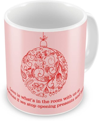 Kiran Udyog Kiran UdyogPrinted Design Cute Pink Coffee  604 Ceramic Mug