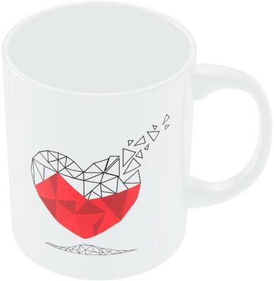 PosterGuy Polygon Fading Aways From Heart Ilustration Ceramic Mug
