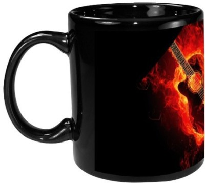 Onlineworld Black Coffee  - Guitar Art Ceramic Mug