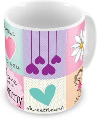 Indian Gift Emporium Love You Mother Print Quotation Design Coffee  509 Ceramic Mug