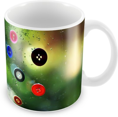 Prinzox Due Drops & Buttons Ceramic Mug