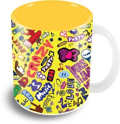 Thecrazyme Music Doodle Coffee Ceramic Mug