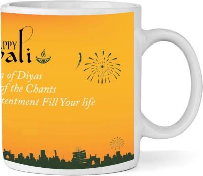 Shopkeeda Fill Your Life Kitchen Dining Ceramic Diwali  By Shopkeeda Ceramic Mug