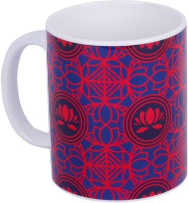 Mad(e) in India Lotus collage Ceramic Mug