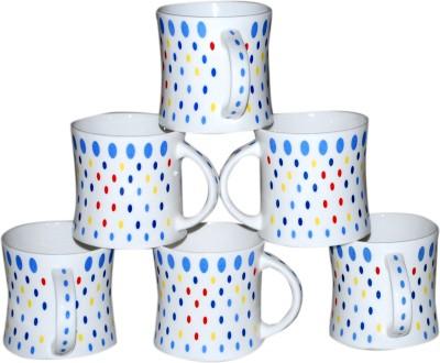 Pearl Dot-6 Cup Set Bone China Mug