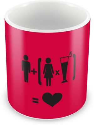 Humor Gang Ladki + Daaru - Pyaar Coffee , 12 Oz, Perfect for Coffee and Tea Lovers - Great Cup for Him or Her At Home or Office Ceramic Mug