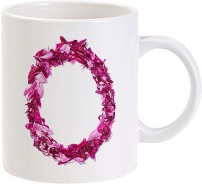 Lolprint O Flower Alphabet Letter Name Ceramic Mug