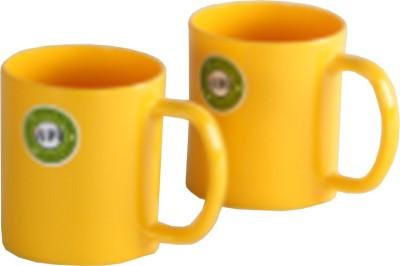 Iveo Yellow Smart Milk - 2 Pieces Set Melamine Mug