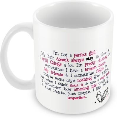 AKUP Im-Not-A-Perfect-Girl Ceramic Mug