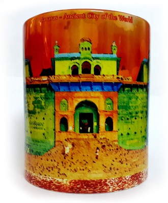 Indiavibes Printed Ceramic Coffee Tea  with Banaras Ghat Theme Ceramic Mug