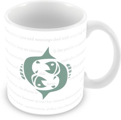 Prinzox Pisces Zodiac sign printed Ceramic Mug