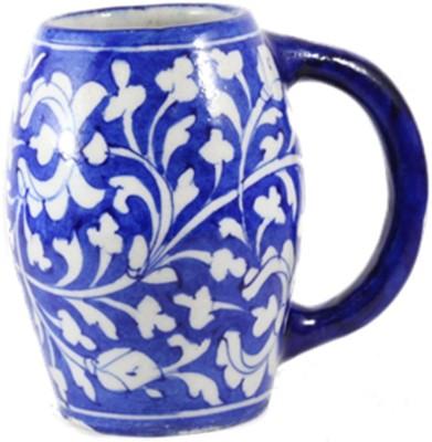 CraftedIndia Blue Pottery  Handmade Unique  Ceramic Mug