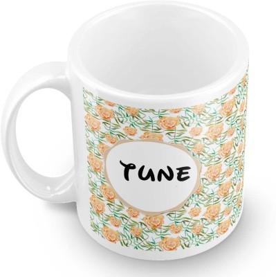 posterchacha Tune Floral Design Name  Ceramic Mug