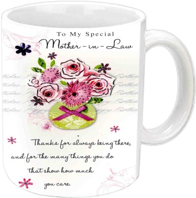Jiya Creation1 For Mother-In-Law Happy B,day White  Ceramic Mug
