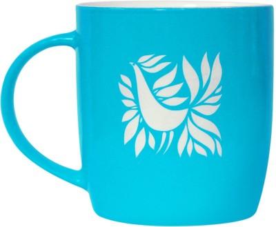 Studio Pandora Blue Feathers Ceramic Mug