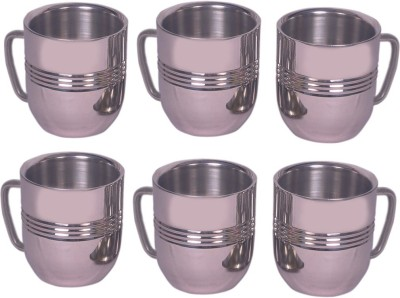 Dynore Set Of 6 Cappacino  Stainless Steel Mug