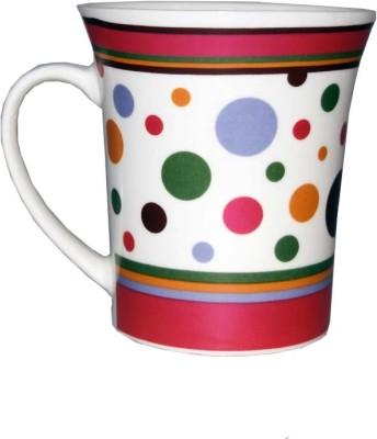 SNYTER Pink Polka Dots Ceramic Mug