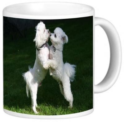 Rikki Knight LLC Knight Ceramic Coffee , Bichon Frize Dogs Design Ceramic Mug
