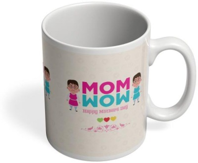 PosterGuy Mom Wow Mom, Wow, Character, Cartoon, Art, Mother, Loving, Celebrate, Greatest Mother. Ceramic Mug