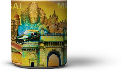 The Nodding Head Mumbai Collage Coffee Ceramic Mug