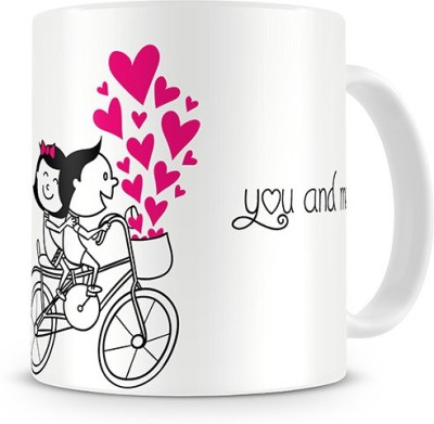 Print Haat You and Me, Forever in Love Ceramic Mug