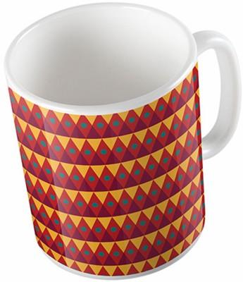 Uptown 18 Indian Classic Pattern Ceramic Mug