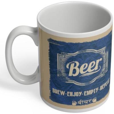 PosterGuy Beer Beer, Brew, Enjoy, Empty, Repeat, Daaru, Drink Ceramic Mug